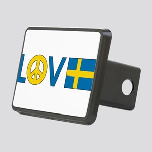 love peace sweden Rectangular Hitch Cover